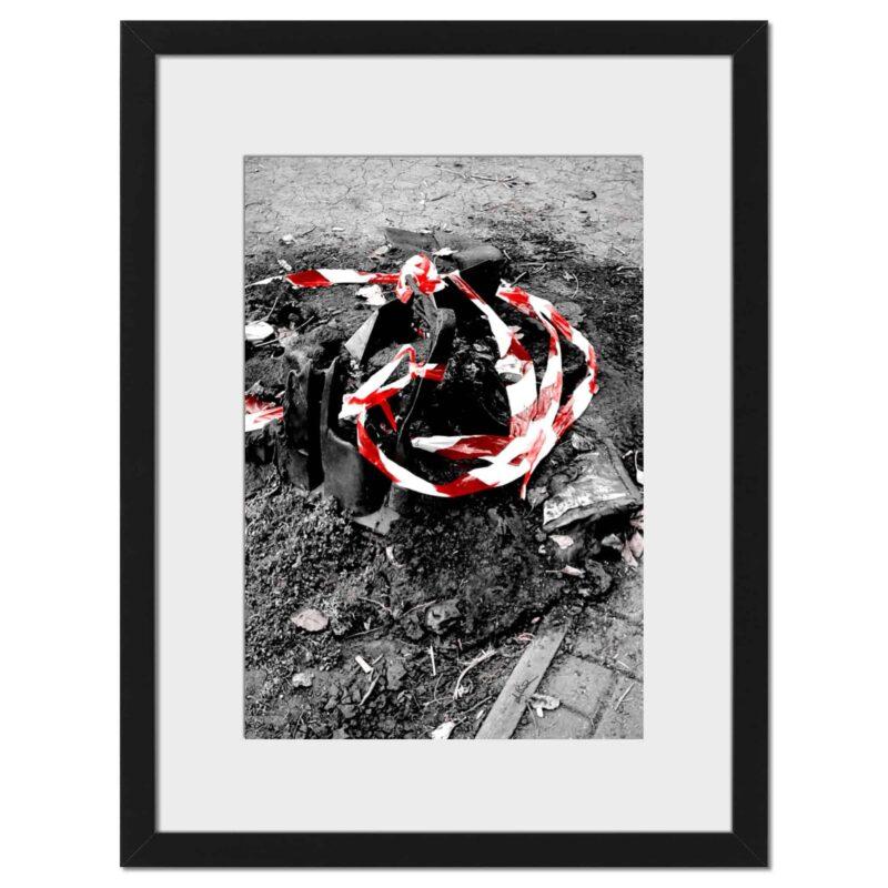 Burn Red - Digital print