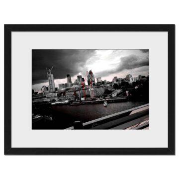 City Red - Digital print by Lee Rickler