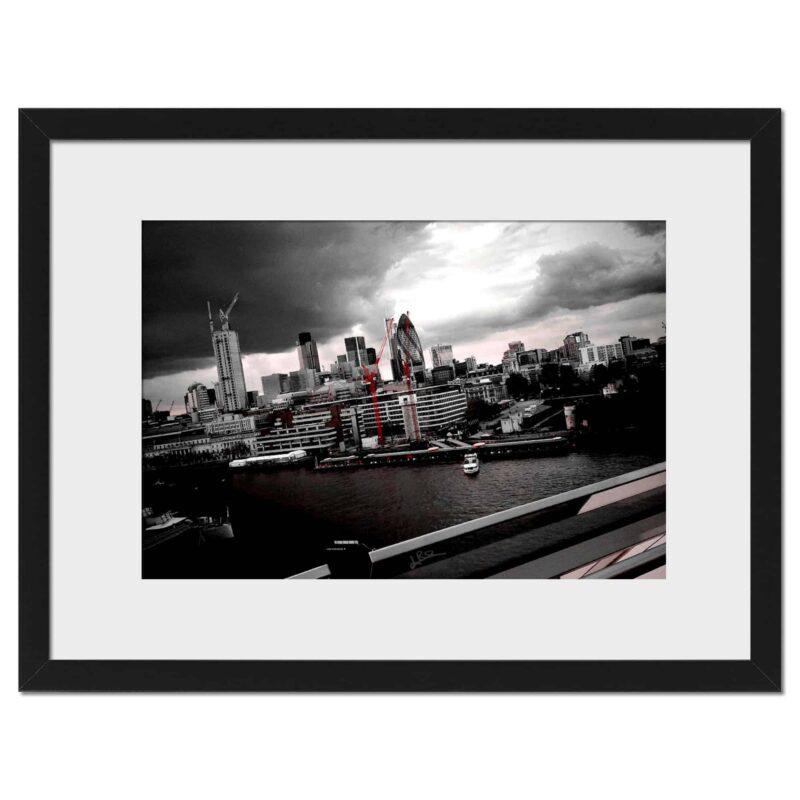 City Red - Digital print, black frame