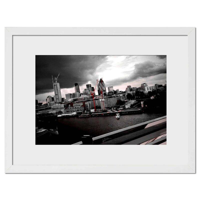 City Red - Digital print, white frame