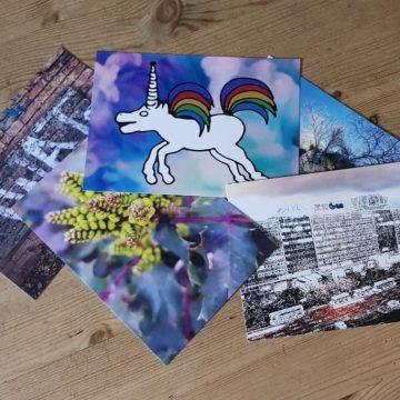Set of 5 postcards - Digital print by Lee Rickler