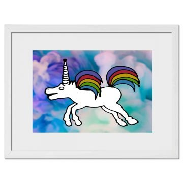 Unicorn - Digital print by Lee Rickler
