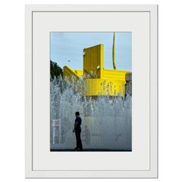 Yellow Splash - Digital print by Lee Rickler