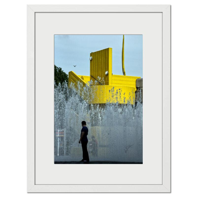 Yellow Splash - Original digital artwork